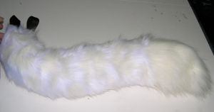 White on white flex tail commission by Bladespark