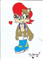 Sandy3697's Sally sketch colored by me by ezioauditore97