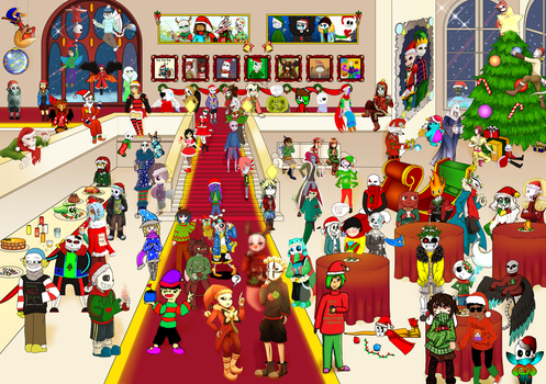 Christmas AU Party Community project by CyaneWorks