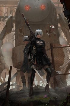 Nier Automata by yagaminoue