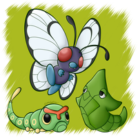 Pokedex: #010 #011 #012 by SuperLakitu