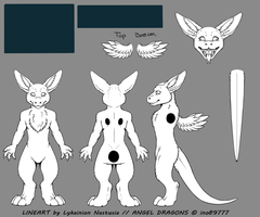 Angel Dragon Blank Ref Sheet by AngelDragon3