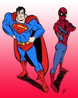 Superman and Spider-Man by edCOM02