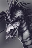 undead dragon-bird by tranenlarm