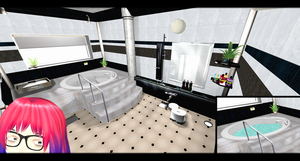 [MMD] Modern Bathroom DL ~ by o-DSV-o
