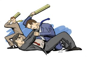 UK election 2010 - FIGHT by cassmeister