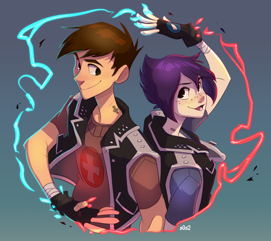 Commission Posijohn and Neganna by s0s2