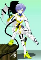 Rei in Unit 00 armor by exia-iwsp