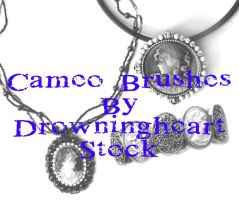 Cameo brushes by drowningheart-stock