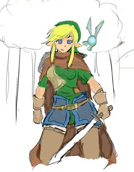 Link: Female Knight by daBunnyHood