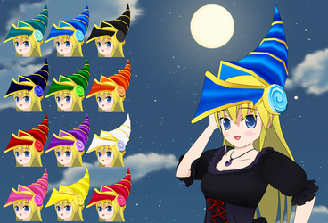Dark Magician Girl Hat pack by Daiger1975