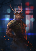 Captain Deer by feintbellt