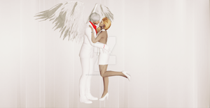 White Angel Dante and Trish by WhiteKnightDante