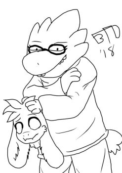 09 Alphys to Asriel by Imbriaart