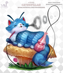 Daily Paint 1946# Caterpillar by Cryptid-Creations