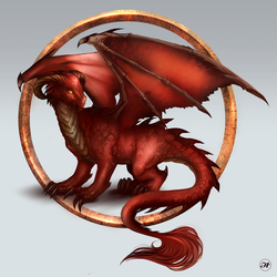 Commission: Alexandra the Red Dragon by Aramisdream