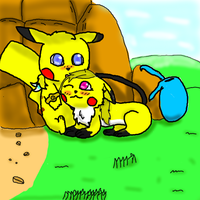 Light and Roxaspikachu by Legendrawing