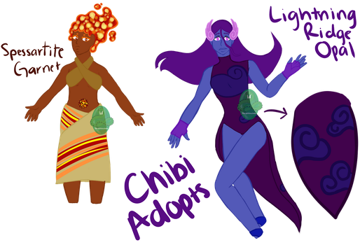 SU Chibi Themed Adopts SET PRICE (PAYPAL/POINTS) by SeraphinaJade