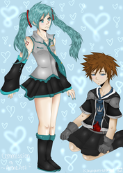 Commission: Miku X Sora by Kyogurt-Star459