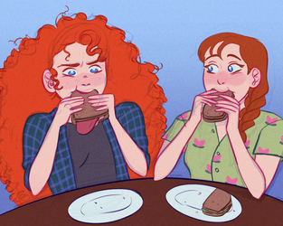 finish each others' sandwiches by Bidabel