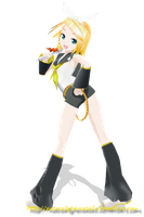 MMD LAT Rin [Figurine Pose] by NotReallyHereAtAll