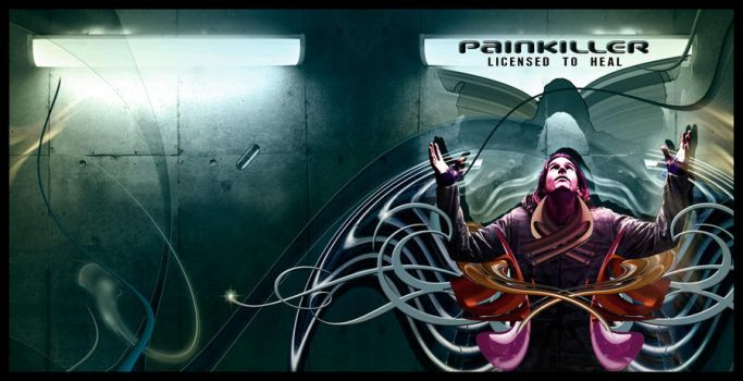 Painkiller Licensed to Heal cd cover rejected idea by Starspine