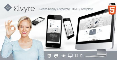 Elvyre Professional Retina Ready HTML5 Template by pixel-industry