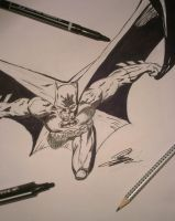 Batman ink (inktober) by FurkanHolmes