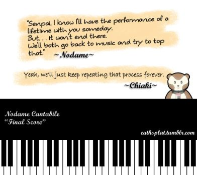 Nodame Cantabile : Final Quote by LightningCatH