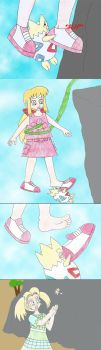 Togepi falls but Kathy catches her by Animedalek1