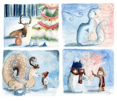 Christmas Cards by ThreeLeaves
