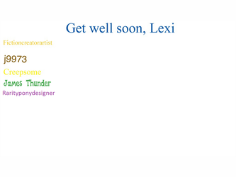 Get Well Soon Lexi by rarityponydesigner
