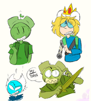 Lots of Finn - Adventure Time Sketches by spacebites