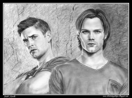 Sam and Deam Winchester (Sobrenatural) by iSaBeL-MR