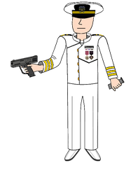 Navy Commander in Dress Whites by EyeInTheSky118