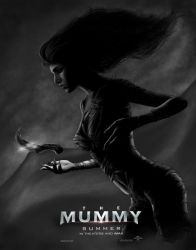 The Mummy Poster grayscale by lancerdrake