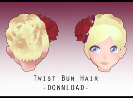 Twist Bun Hair [ DOWNLOAD ] by PeachMilk3D