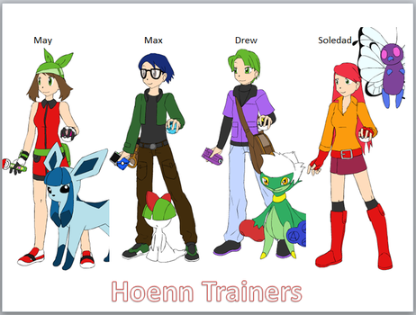 Hoenn Trainers by ciciweezil96