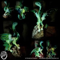 Handmade OOAK Large Earth Dragon on Quartz - SOLD by SonsationalCreations