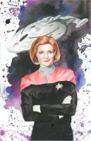 Captain Janeway Commission by JAWart728