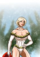 Power Girl - Merry Christmas by adamantis