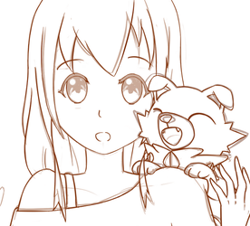 [WIP] Rockruff and Ruri! by LeonDraceus