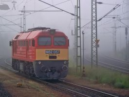 M62 057 waiting in the fog in Celldomolk by morpheus880223