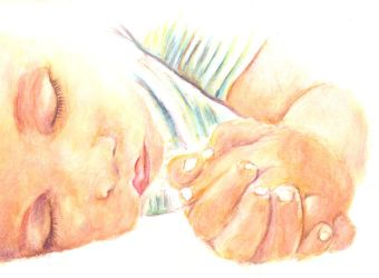 Watercolor baby by Mirally
