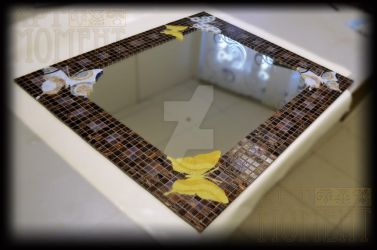 Mirror Frame in glass mosaic by Artmoment-Rus