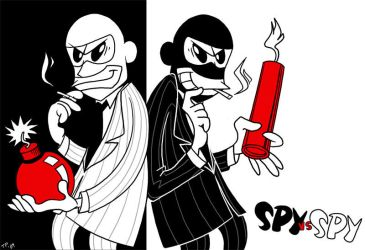 TF2: Spy vs. Spy by jiggly