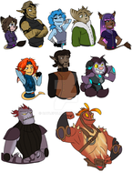 Character Rollcall by CaylePolin