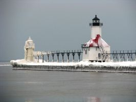 Icy Light House by BrwnEyedGirl