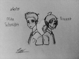 Mike Schmidt and Seth/Vincent by NoxidamXV