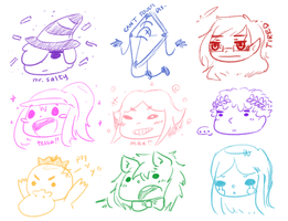 [request] batch 1 headshots by Popokko